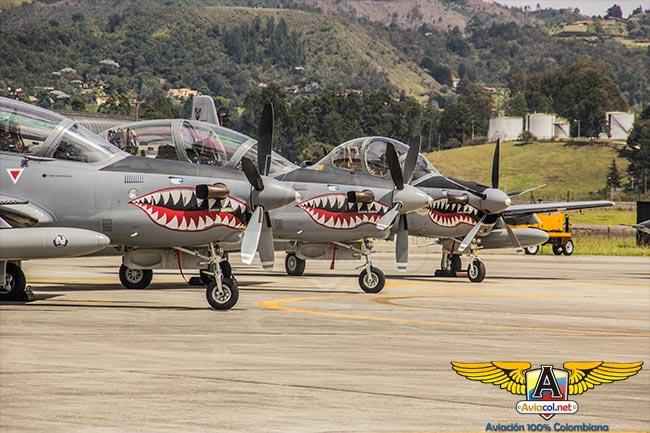 Aviones A-29B Super Tucano en Ángel de los Andes 2015