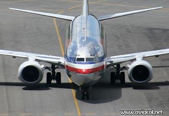 Boeing 737 de American Airlines en Rionegro