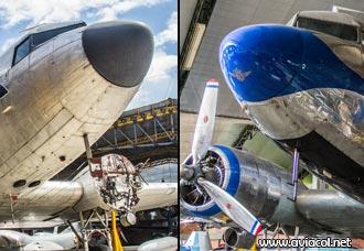 Aviones Douglas DC-3 del Museo Aéreo Fénix