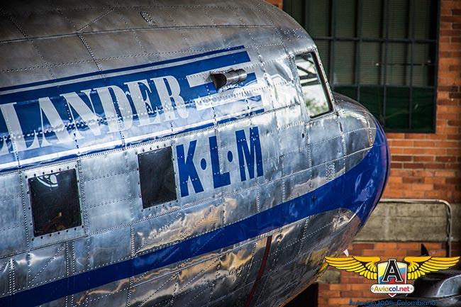 Douglas DC-3 del Museo Aéreo Fénix en colores de KLM