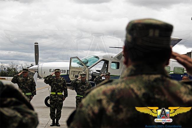 Llegada a Colombia del avión Cessna Grand Caravan EX, EJC-1139, para el Ejército