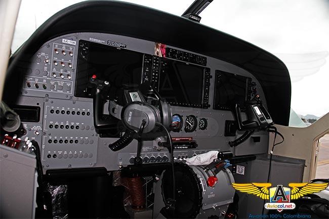 Cabina del Cessna Grand Caravan EX, EJC-1139, para el Ejército de Colombia
