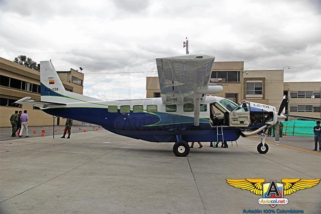 Llegada a Colombia del Cessna Grand Caravan EX, EJC-1139, para el Ejército