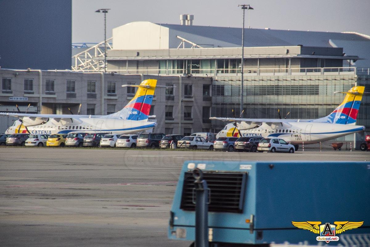 Nuevos ATR-42-600 de Satena en Toulouse
