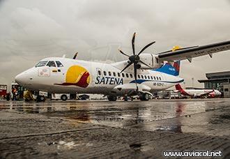 A bordo de los nuevos ATR-42-600 de Satena - Aviacol.net El Portal de la Aviación