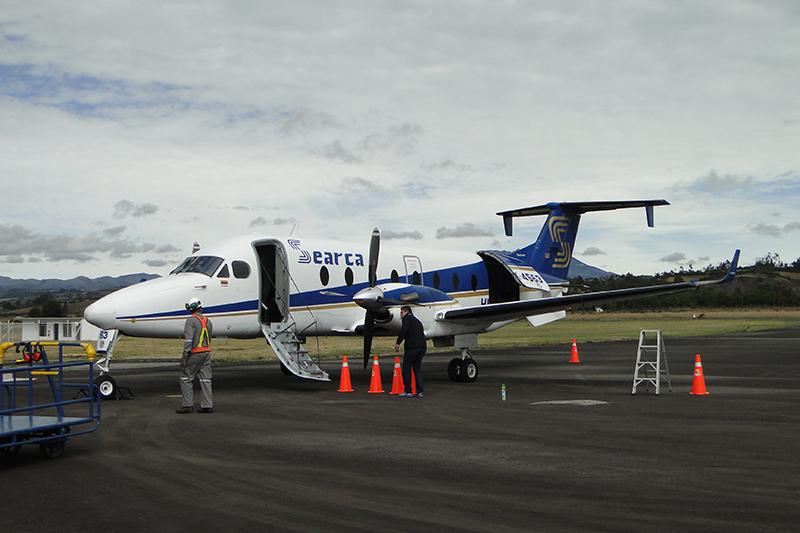 Beech 1900D de Searca en el Aeropuerto San Luis