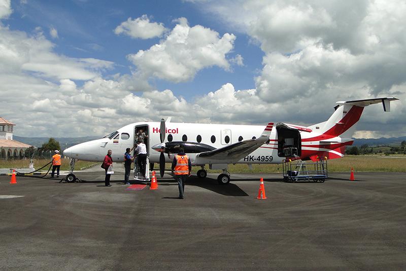 Beechcraft 1900D de Helicol en el Aeropuerto San Luis de Ipiales