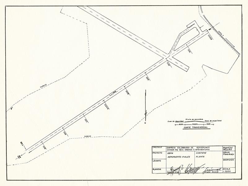 Diagrama del Aeropuerto San Luis de Ipiales en 1965