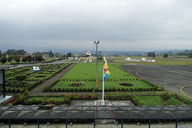 Vista actual de la plataforma del Aeropuerto San Luis de Ipiales
