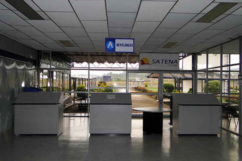Módulos de registro del Aeropuerto San Luis de Ipiales