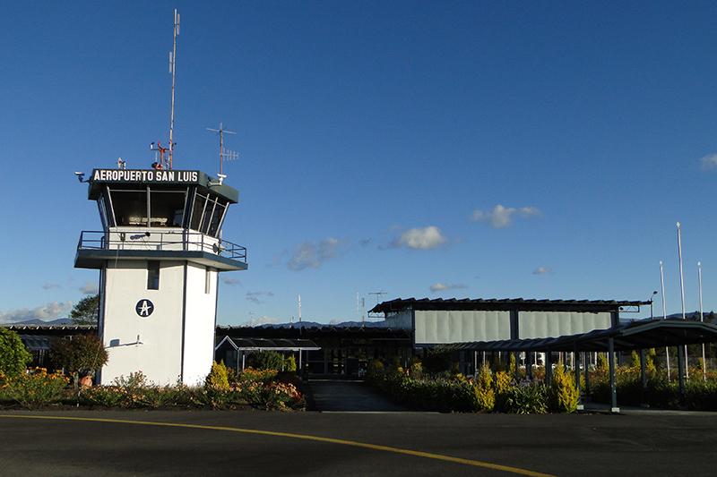 Torre de control del Aeropuerto San Luis de Ipiales