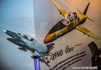El Aero L-39NG en Expodefensa