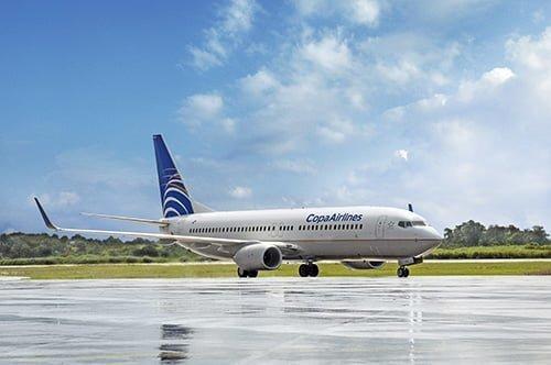 Boeing 737-800 de Copa Airlines en rodaje