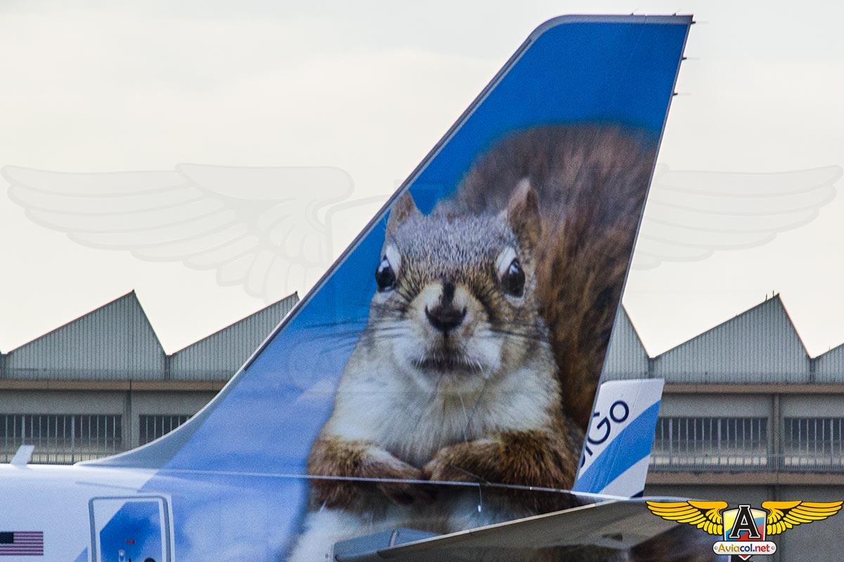 A320 de Frontier Airlines en Toulouse