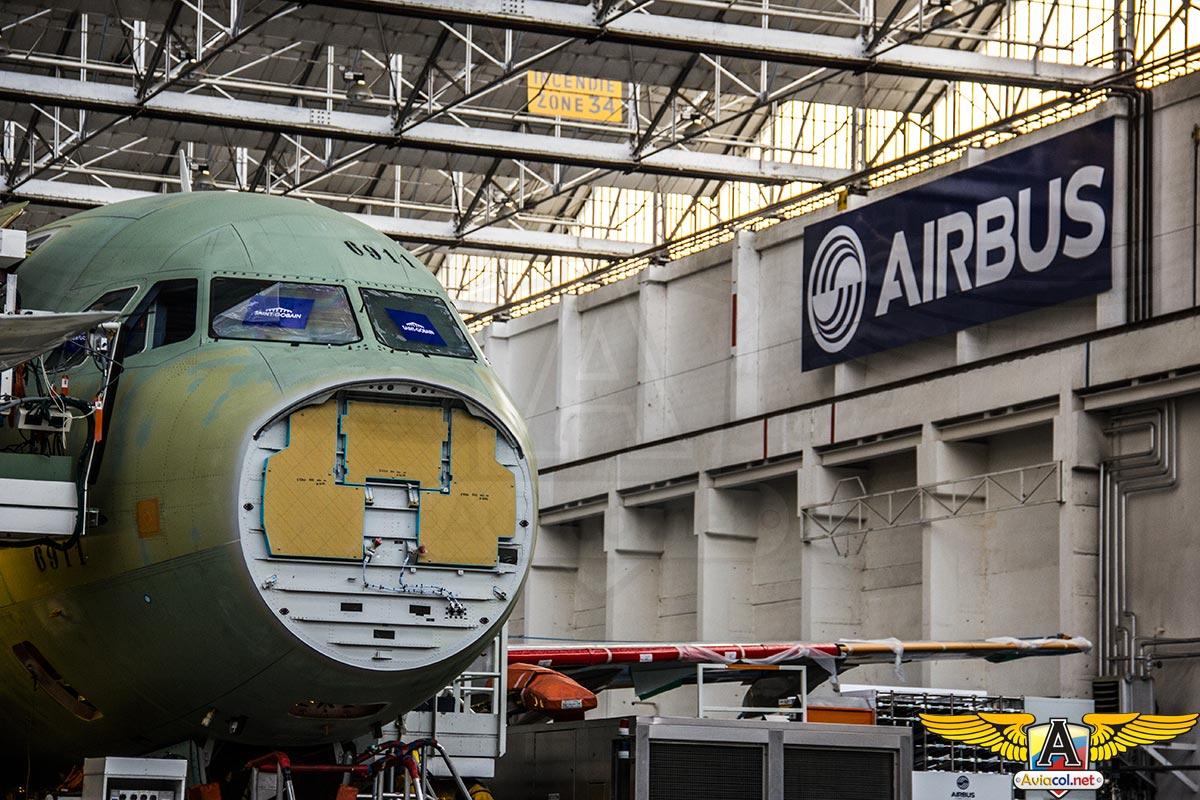 Ensamble del A320 en Toulouse