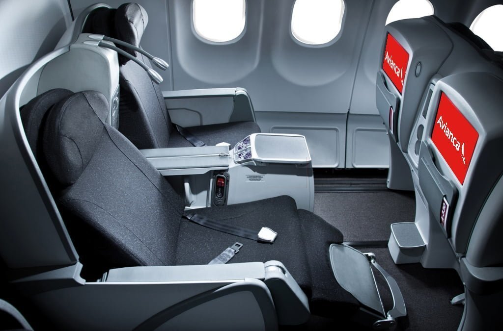 Clase Ejecutiva de un Airbus 330 de Avianca