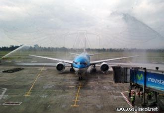 KLM satisfecha con operación en Colombia