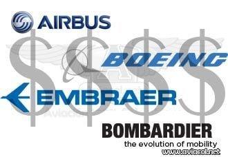 ¿Cuánto cuestan los aviones comerciales?