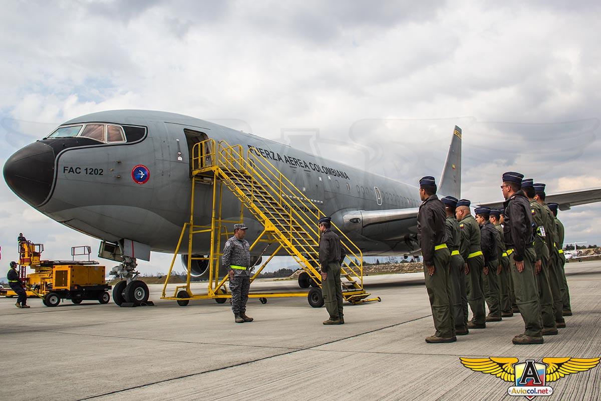"""Boeing KC-767 """"Júpiter"""" de la FAC, vuelve después de mantenimiento mayor"""