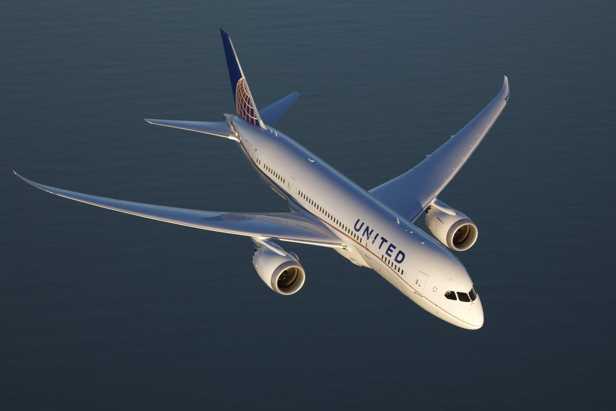 Boeing 787-9 Dreamliner de United en crucero