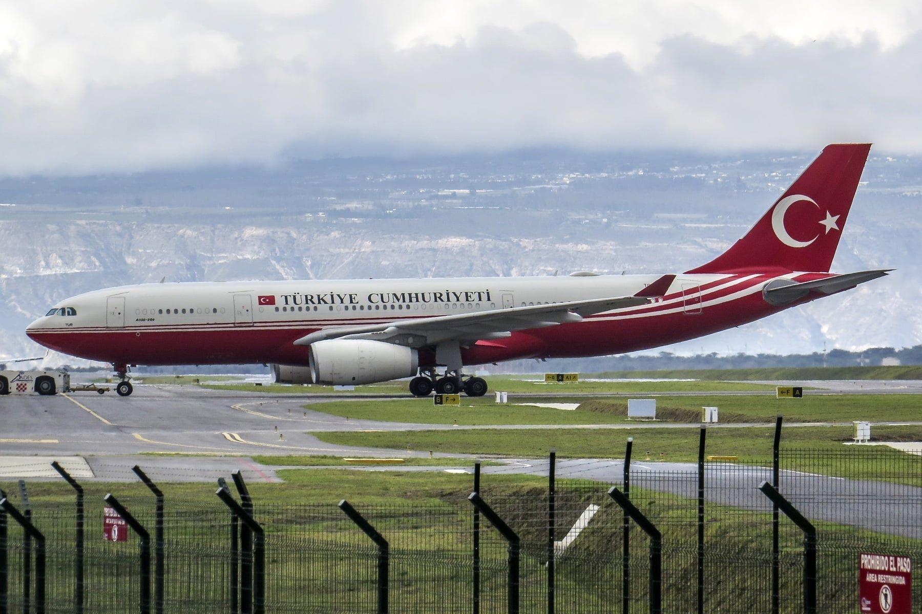 Airbus A330-200 del Gobierno de Turquía en Quito