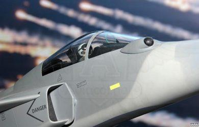 Maqueta del avión Saab JAS 39 Gripen