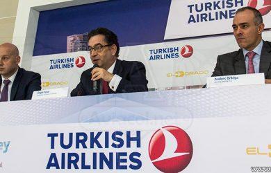 Directivos de Turkish Airlines, OPAIN y el Embajador de Turquía en Colombia