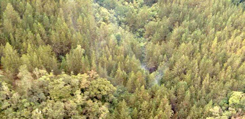 Accidente de helicóptero en Antioquia
