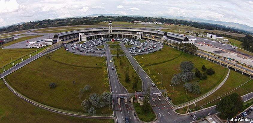 Panorámica del aeropuerto José María Córdova