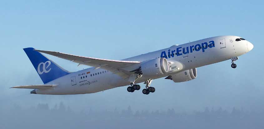 Primer Boeing 787 Dreamliner de Air Europa