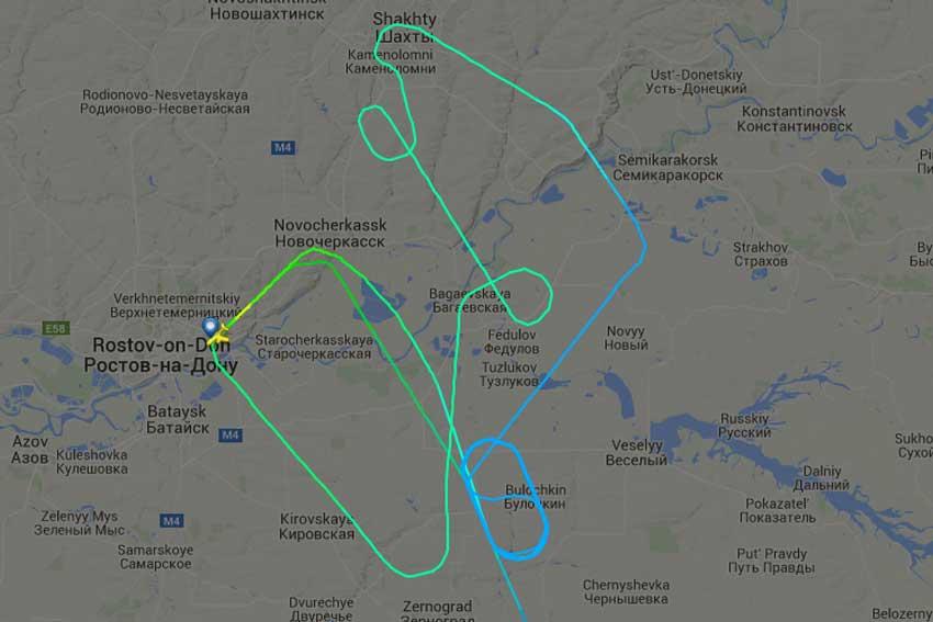 Boeing 737 de Flydubai cae a tierra en Rusia