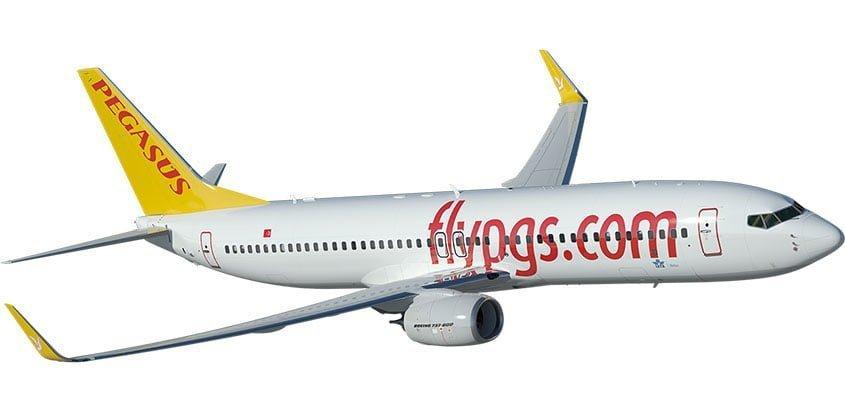 Boeing 737 en colores de Pegasus Airline