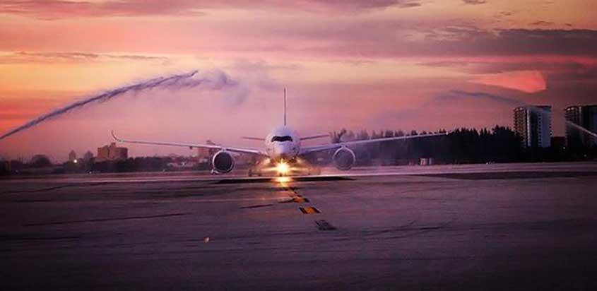 Airbus A350 de TAM en Miami