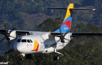 Avión ATR-42 de Satena