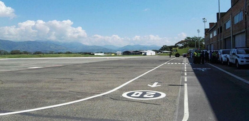 Nueva plataforma del aeropuerto de Cartago