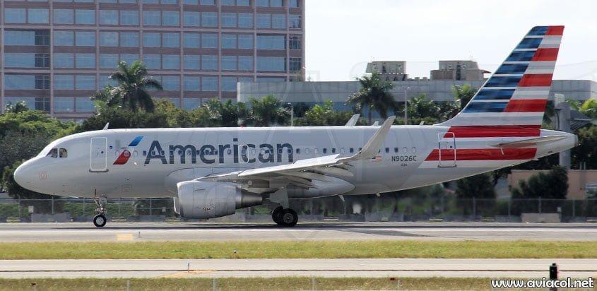 Airbus A319 de American Airlines en Miami