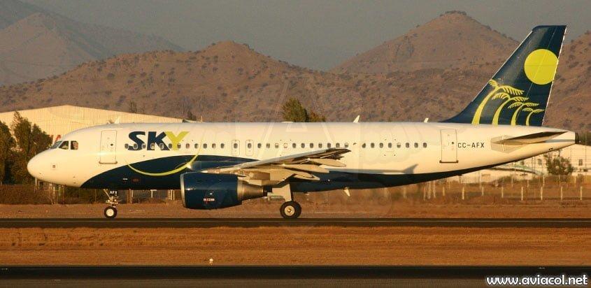 Airbus A320 de Sky Airline