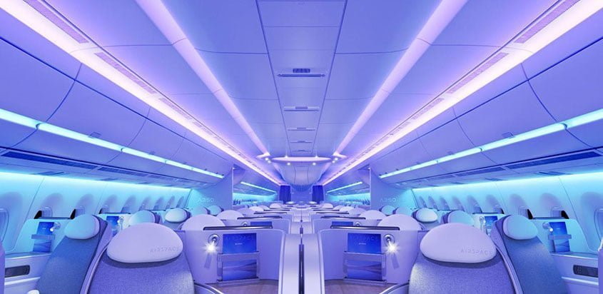 Cabina Airspace by Airbus en un A350