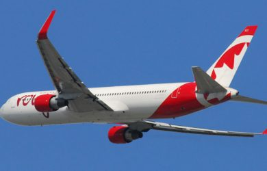 Boeing 767 de Air Canada rouge