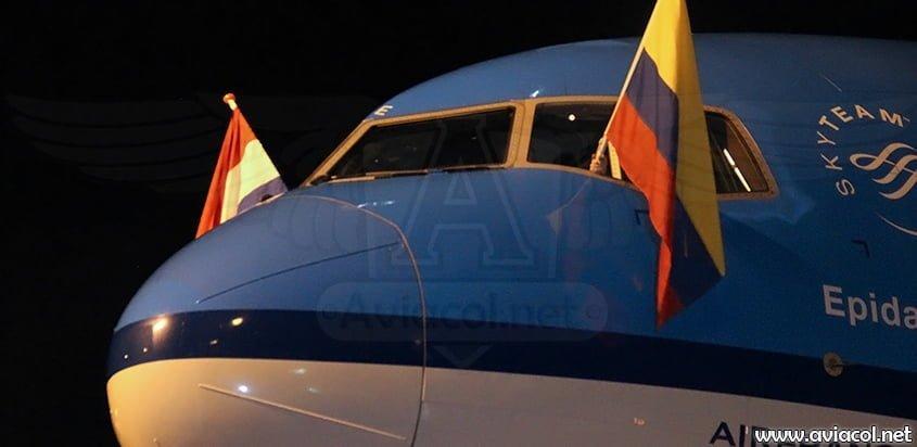 Boeing 777 de KLM en Colombia