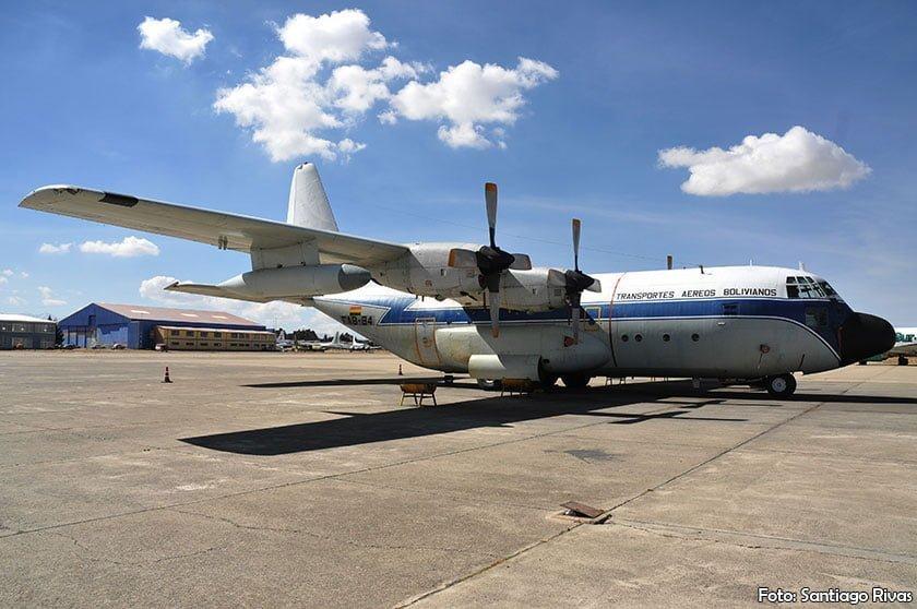 C-130 Hercules de la Fuerza Aérea Boliviana (Foto: Santiago Rivas)
