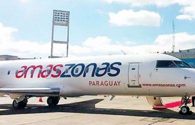 Avión Bombardier CRJ-200 de Amaszonas Paraguay