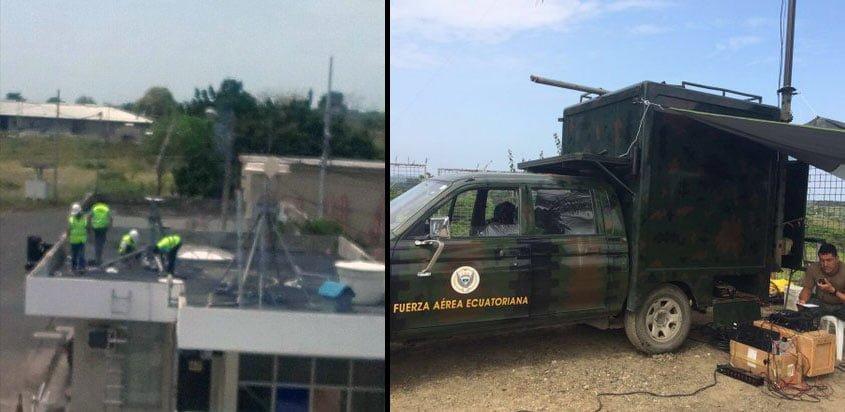 Afectación aérea en Ecuador