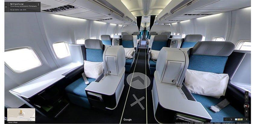 Recorrido virtual de un 757 en Google Street View
