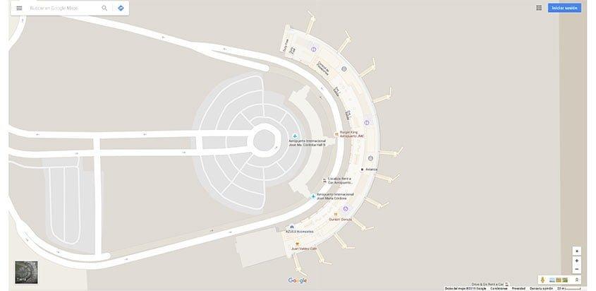 Google Indoor Maps del aeropuerto José María Córdova