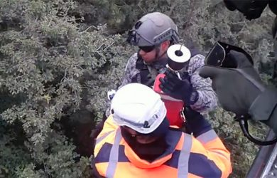 Rescatistas llegan al lugar del accidente (Foto: CACOM 5)