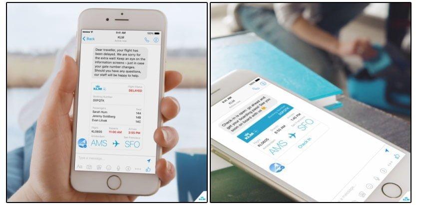 KLM ofrece servicio de información de vuelos por Facebook Messenger