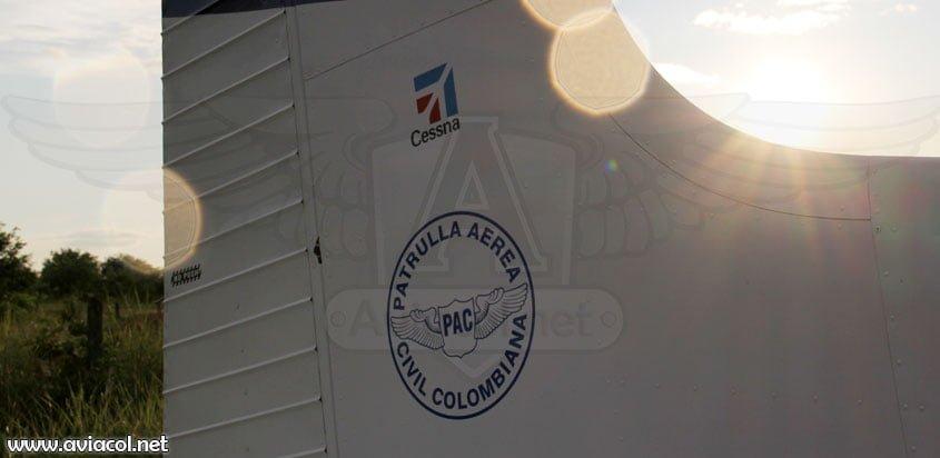 Avión de la Patrulla Aérea Civil Colombiana