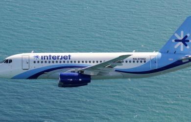 Avión SSJ100 de Interjet