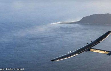 Solar Impulse saliendo de Hawái (Foto: Solar Impulse   Revillard   Rezo.ch